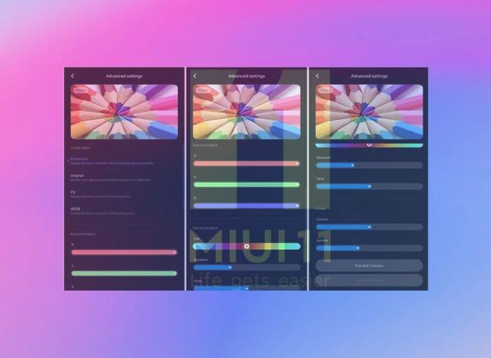 Xiaomi добавят  усъвършенствани контроли за калибриране на дисплея в MIUI 11
