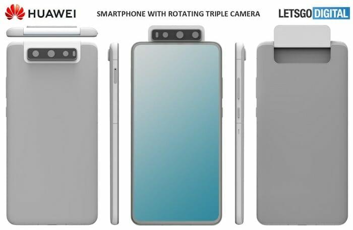 Huawei патентоват телефон с въртяща се камера