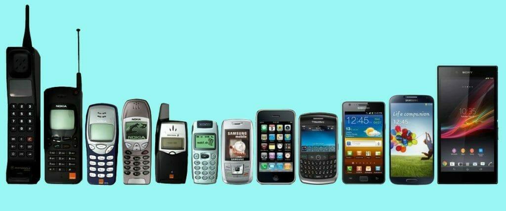Какви бяха популярните телефони от 1980г. до 2000г.