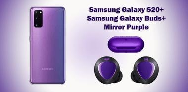 Samsung Galaxy S20 Plus Buds Plus Mirror Purple