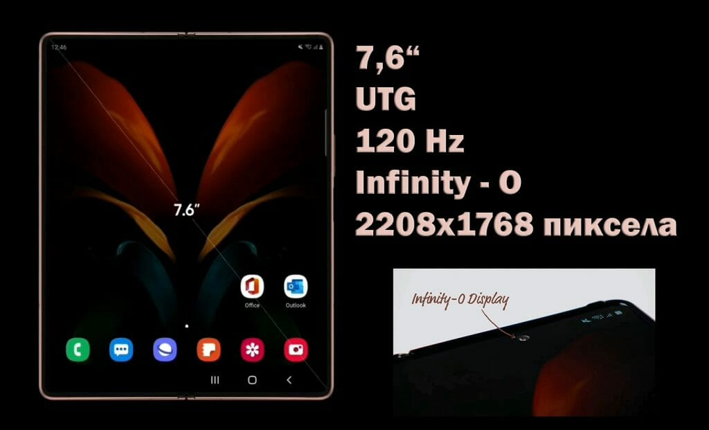 Galaxy-Z-Fold-2-външен екран 7,6 инча, UTG, Infinity O, 120 Hz