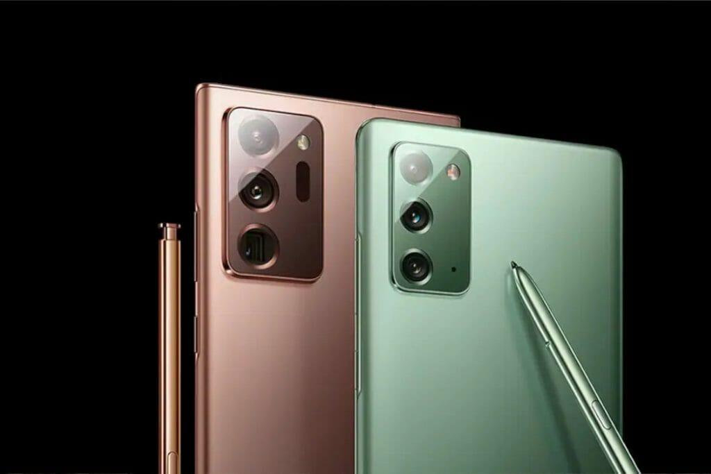 Galaxy Note 20 5G се предлагат в  цвеетовете Mystic Bronze, Mystic Grey и Mystic Green