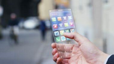 прозрачен телефон