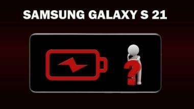 Galaxy S 21 battery